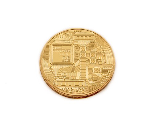 24k Commemorative Coin - Blokforge Gold Bitcoin Commemorative Round Collectors Coin - Gold Plated Copper Coin
