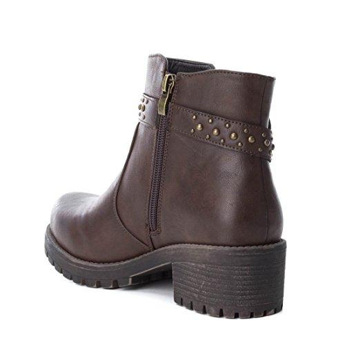 XTI Women's 047429 Chelsea Boots, Black Brown