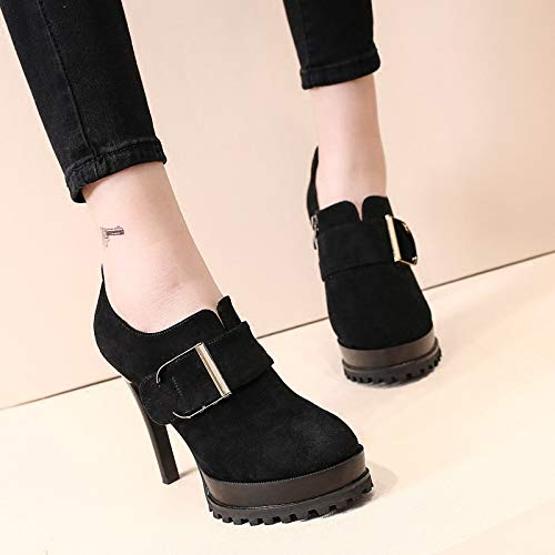 Waterproof Heel 11Cm Shoes Belt Women'S five LBTSQ High Joker Shoes Buckle Thirty Mouth Fashion Table Heel Deep Thin qBSwnvxw