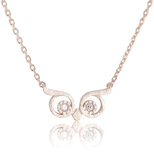 My Very Best Wise Owl Eye Necklace (Rose Gold Plated Brass)