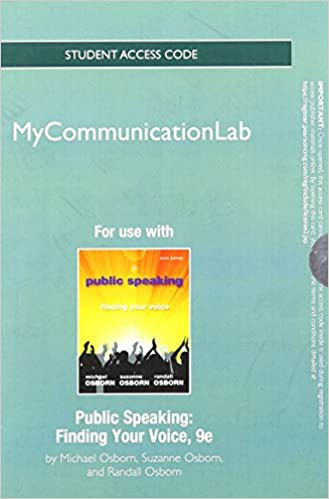 new mycommunicationlab standalone access card for public speaking finding your voice 9th edition