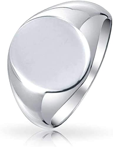 Three Letter Monogram Engraved Signet Ring 8 7 Sterling Silver Uni-Sex Size 6