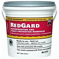 CUSTOM BLDG PRODUCTS LQWAF1-2 Redgard Waterproofing, 1 gal by Custom Building Products