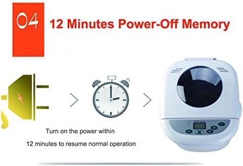 Machine à pain automatique, machine à pain multifonctionnelle rapide avec 12 programmes, 3 couleurs de croûte, minuterie de retard de 12 heures, 1 heure de maintien au chaud