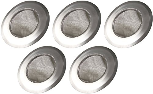 Happy Sales HS5049-SS5 Stainless-Steel Kitchen Sink Strainer (Set of 5), Silver