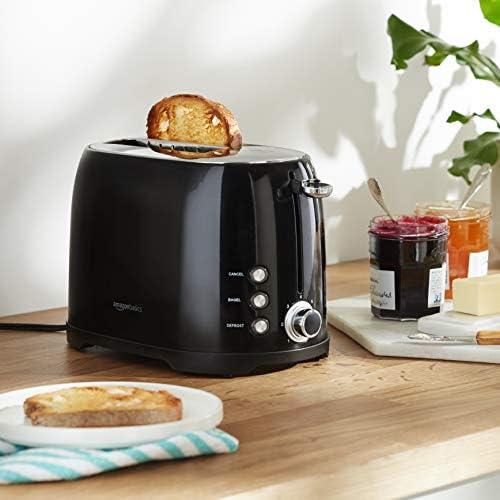 Amazon Basics 2-Slot Toaster, Black