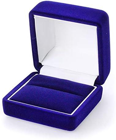 [해외]Barzaz 케이스 박스 반지 반지 수납 상자 정사각형 래퍼 해군 네이 비 / Barzaz Case Box Ring Ring Storage Box Square Wrapping Navy Navy Navy