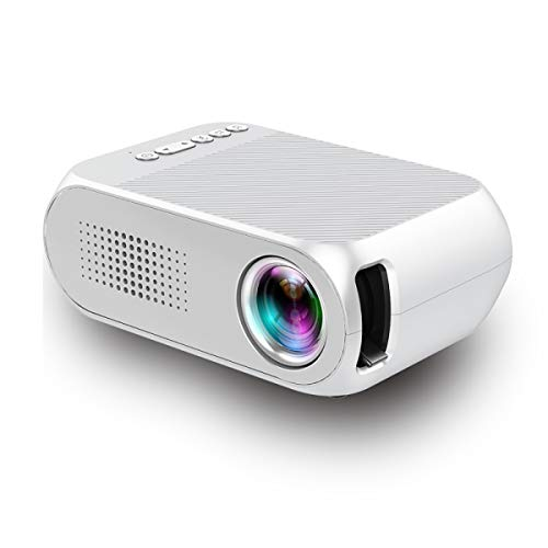 FIZZENN Portable Home Projector LED Video Projector Compatible with Network Set-Top Boxes/PS4/USB/HDMI/SD/AV, Support…