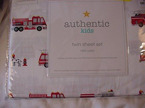 Dalmatian Fire Dog - Authentic Kids Fire Trucks and Dalmatian Dogs Sheet Set Twin