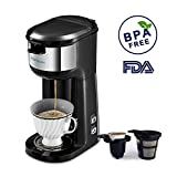 Best Single Serve Coffee Makers - Coffee Maker, HAMSWAN Coffee Machine Ground Coffee Review
