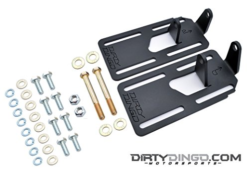 Dirty Dingo Motorsports Muscle Mounts-Adjustable Powder Coat LS GM Car Solid Engine (Muscle Motor Mount)
