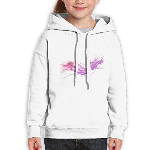 Grass Line Of Purple Wave Light Youth Custom Hoodie 100% Cotton Fashion Keep Warm Sweatshirt Hooded Pullover For Girls & Boys M White - 14 Light Orleans Chandelier