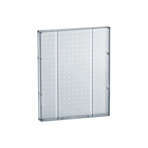 (Azar 771620-CLR Pegboard 1-Sided Wall Panel, Clear Translucent Color, 2-Pack)