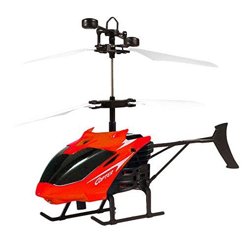 Springdoit Juguete Volador de helicóptero de inducción avión de Control Remoto de Carga USB Resistente a caídas Regalo de...
