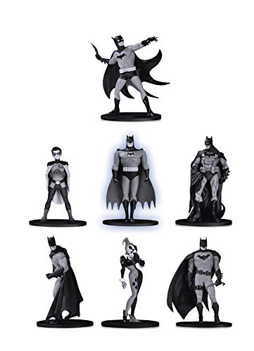DC Collectibles Batman Black & White Mini Figure 7-Pack Box Set - Mini Set Collectibles