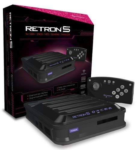 Hyperkin RetroN 5: HD Gaming Console for GBA/ GBC/ GB/ SNES/ NES/ Super Famicom/ Famicom/ Genesis/ Mega Drive/ Master System (Black) from Hyperkin