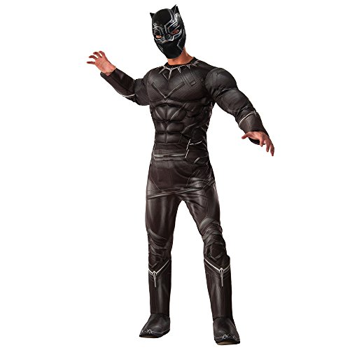 Marvel Men's Captain America: Civil War Deluxe Muscle Chest Panther Costume, Black, (Halloween Costumes Black Widow From Iron Man)