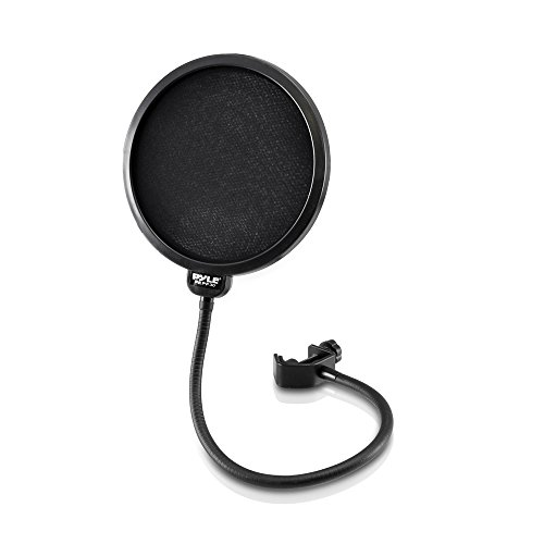 ne Pop Filter 4-Layer Mesh Screen, Wind Screen Filtration 360° Flexible Gooseneck Holder ()