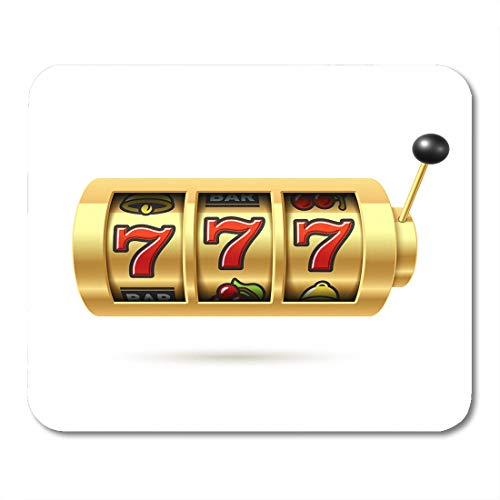 Emvency Mouse Pads Casino Slot Machine Lucky Sevens Jackpot 777 Symbol Bingo Win Spin Mousepad 9.5