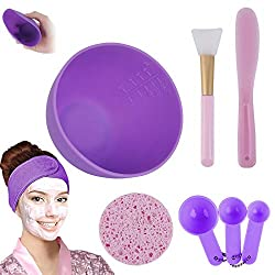 Revive your morning ritual and put your best face forward with this face mask bowl mixing set. This soft silicone face mask mixing dish comes with total 8 pcs essential accessories. Perfect for mixing aztec secret indian healing clay face mask to get...