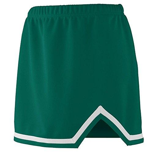 Cheer Visor (Augusta Sportswear Girls' ENERGY SKIRT XXS Dark Green/White)