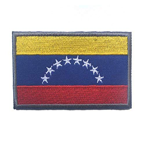 ShowPlus Venezuela VE Flag Military Embroidered Tactical Patch Morale Shoulder -