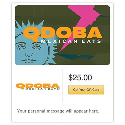 Qdoba Mexican Grill Orange Cactus Gift Cards - E-mail Delivery