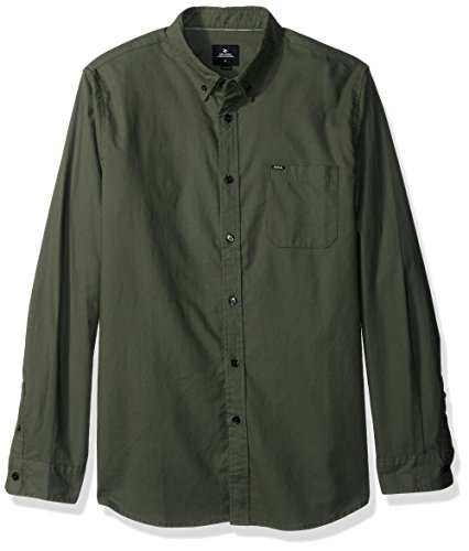 Rip Curl Mens Ourtime L S Shirt  Green Green  L
