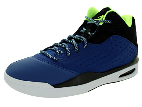 Nike Jordan Men's New School Insgn Blue/Ghst Grn/Blck/Wht Basketball Shoe 11.5 Men US 768901 401