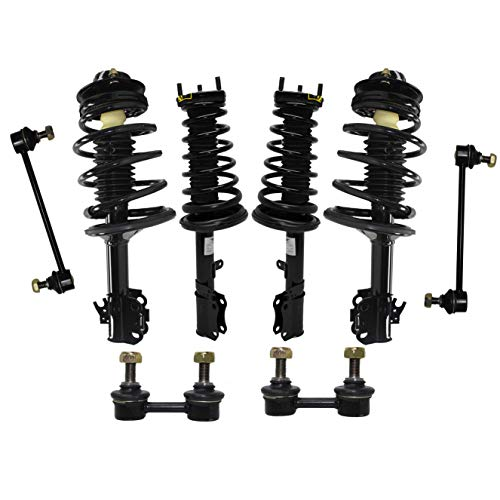 Detroit Axle - 8PC Complete Front and Rear Quick Ready Struts & Coil Springs Assembly w/Sway Bars for 1992 1993 1994 Toyota Camry 3.0L / Lexus ES300