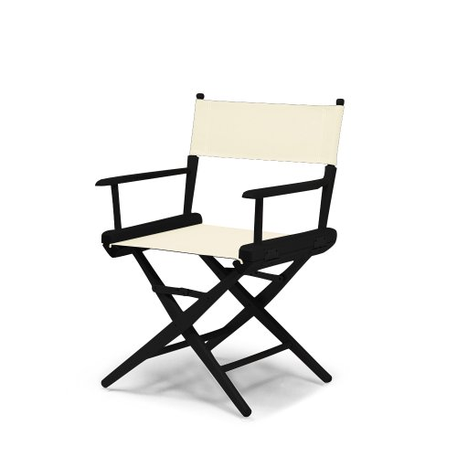 Telescope Casual World Famous Dining Height Director Chair, Natural with Black Frame by Telescope Casual