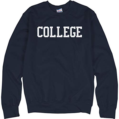 Crewneck 10 Sweatshirt Cotton Oz - Animal House College: Unisex Ultimate Crewneck Sweatshirt Navy