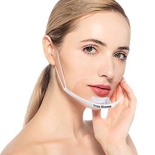 Unite Stone Reusable Safety Open Face Guard Sanitary Open Face Guard for Restaurants, Food Truck,Hotels, Mall, beauty salons, barber shops and so on (10-pcs)