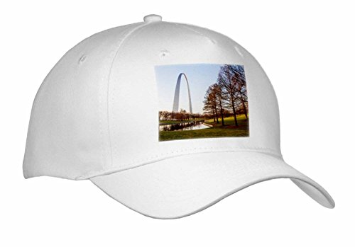 Danita Delimont - Missouri - St. Louis Gateway Arch, Missouri at sunrise - Caps - Adult Baseball Cap (St Louis Pond)