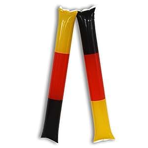 HC-Handel - Palos de aplauso (16 unidades, diseño de la bandera de Alemania)
