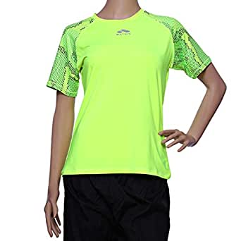 Matris Multi Color Polyester Round Neck T-Shirt For Women