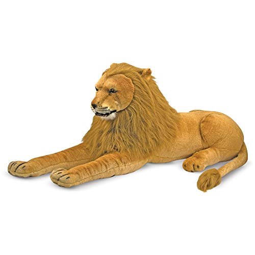 "Melissa & Doug Lion Giant Stuffed Animal (Wildlife, Regal Face, Soft Fabric, 22"" H x 76"" W x 15"" L)"