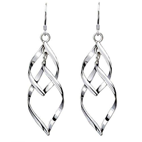 - Clearance Deal! Hot Sale! Earring, Fitfulvan 2018 Fashion Woman One Pair Sterling Silver Leaf Eardrop Earring Gift Jewelry (Silver)