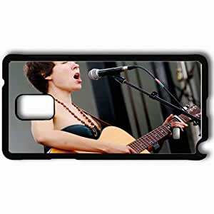 Personalized Samsung Note 4 Cell phone Case/Cover Skin Alela Diane Girl Guitar Show Beads Microphone Black by supermalls