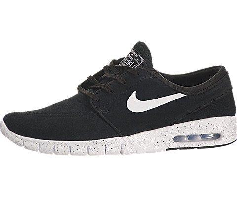 Nike Men's Stefan Janoski Max L Black/White Skate Shoe 12...