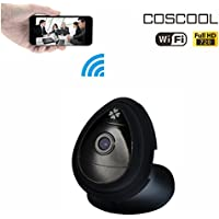 CosCool IP Camera 720P Wireless,Wifi Surveillance Camera Network Security Webcam,Onekey Wifi Fast Setting,Mini size,Black color