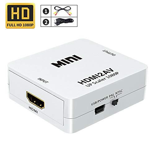 REDGO HDMI to AV Converter, 1080P HDMI to CVBS AV Composite Video Audio Adapter Supports PAL/NTSC PC Laptop HDTV DVD for Amazon Fire TV Stick, Roku, Chromecast, Apple TV, PC, Laptop, Xbox, HDTV, DVD