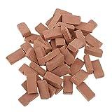 Baoblaze 1/16 Simulation Porcelain Red Brick Model Toy 1.7x0.9cm Diorama Scenery