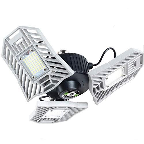Myteaworld Garage Lights 2-Pack 100W LED Garage Light 10000LM Illuminator 360 E26/E27 Garage Ceiling Light Fixtures LED…
