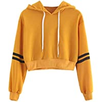 HTHJSCO Womens Long Sleeve Colorblock Pullover Sweatshirt Fleece Hoodie Pullover Shirt Blouse Tops