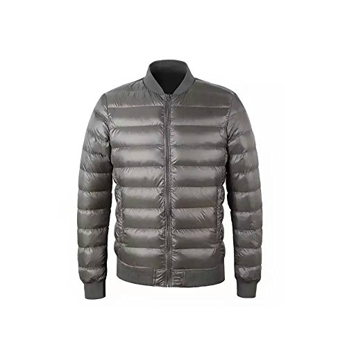 Grey Collar Hoffen Puffer Coat Lightweight Jacket Men's Baseball Ultra Light Stand Down xPOwqA