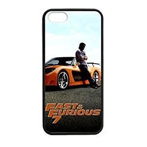Zyhome iPhone 5,5S Film Fast & Furious 7 In Memory of Paul Walker Case Cover for iPhone 5,5S TPU (Laser Technology)