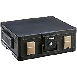 Honeywell Safes & Door Locks LHLP1104G 1 Hour Fire Safe Waterproof Safe Box Chest with Carry Handle, Large, 1104, Black