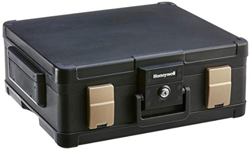 HONEYWELL – 1 Hour Fire Safe Waterproof Safe Box Chest with Carry Handle, Large, 1104