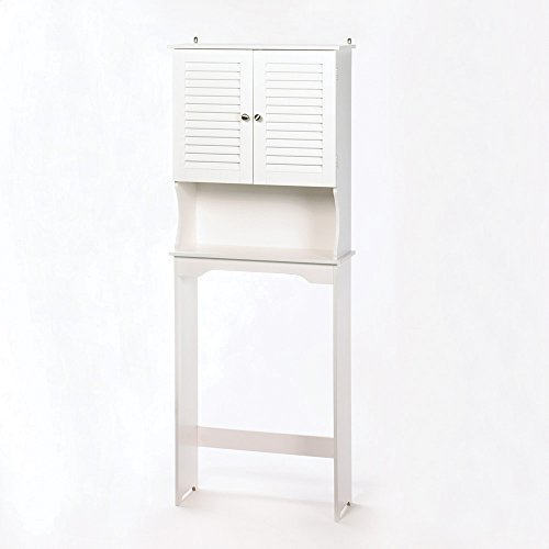 Koehler Home Indoor Decorative Nantucket Bathroom Toilet Space Saver Storage Wooden Cabinet by US Gift